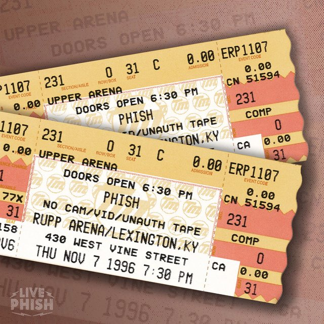 PHISH: 11/07/96 Rupp Arena, Lexington, KY (Live)