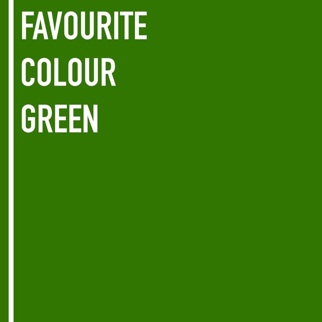 Favourite Colour Green