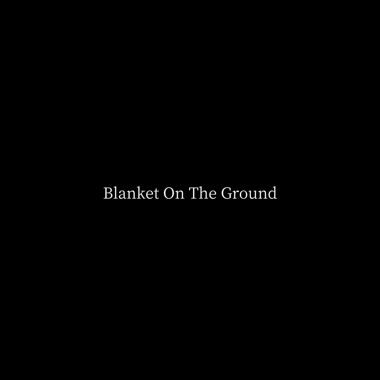 Blanket On The Ground