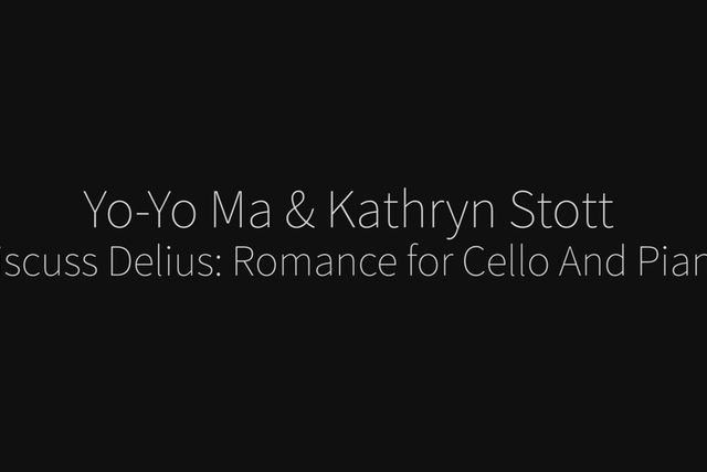 Romance for Cello and Piano (Delius) - Commentary