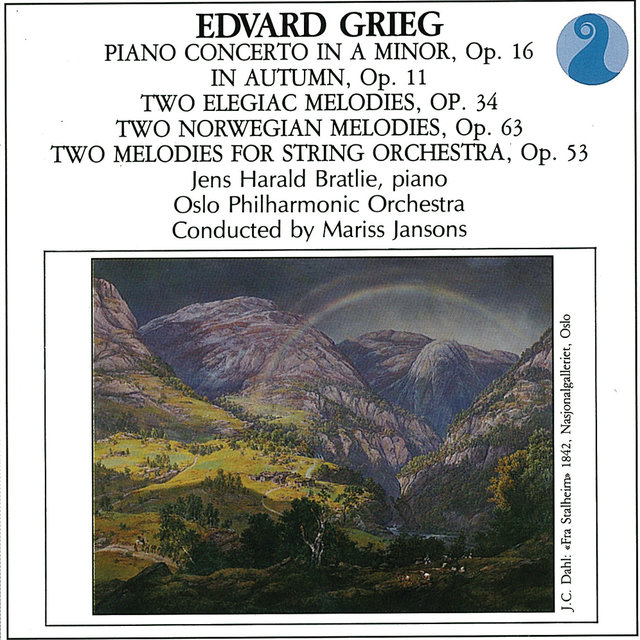 Piano Concerto In A Minor, Op.16 / In Autumn, Op.11 / Two Elegiac Melodies, Op. 34 / Two Norwegian melodies, Op.63 / Two melodies For String Orchestra, Op. 53