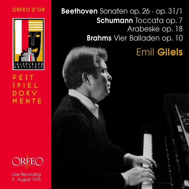 Beethoven, Schumann & Brahms: Piano Works (Live)