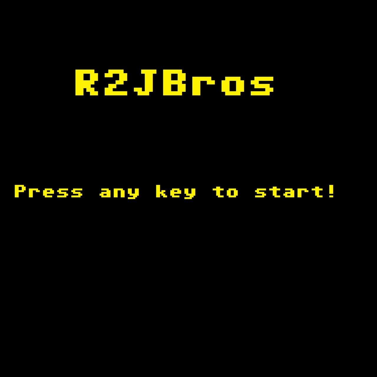 Press Any Key to Start!