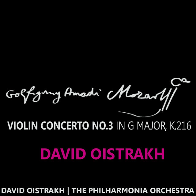 Mozart: Violin Concerto No. 3 in G Major, K. 216