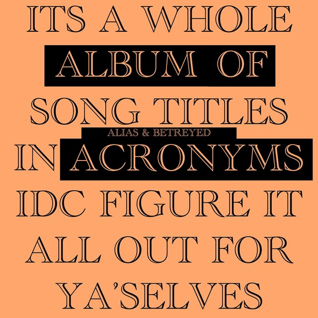 A.O.A: Album of Acronyms