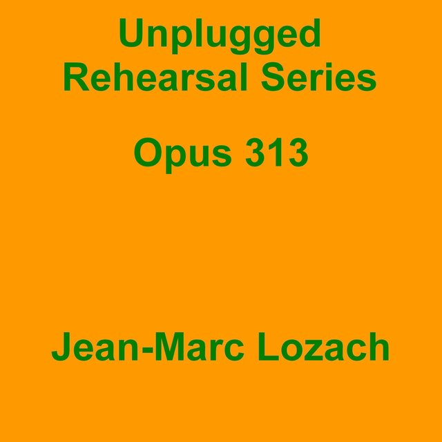 Unplugged Rehearsal Series Opus 313