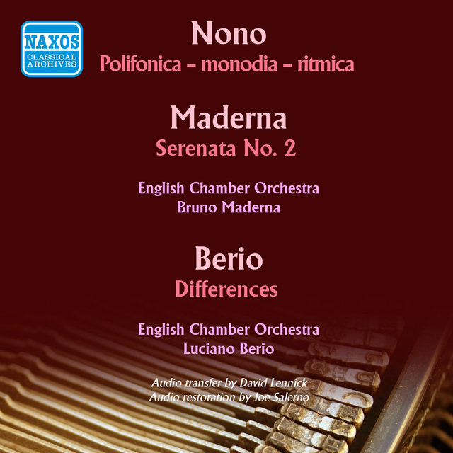 Nono, Maderna & Berio: Works for Chamber Orchestra