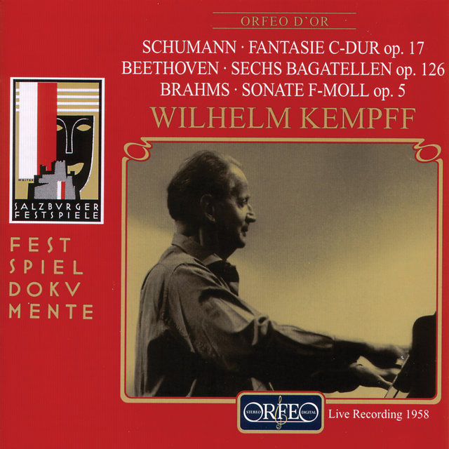 Schumann, Beethoven & Brahms: Works for Solo Piano (Live)
