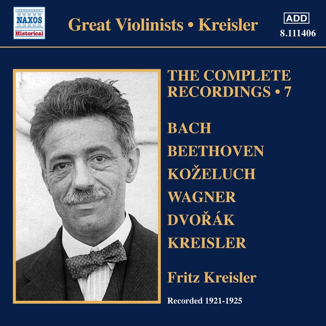 Kreisler: The Complete Recordings, Vol. 7 (1921-1925)