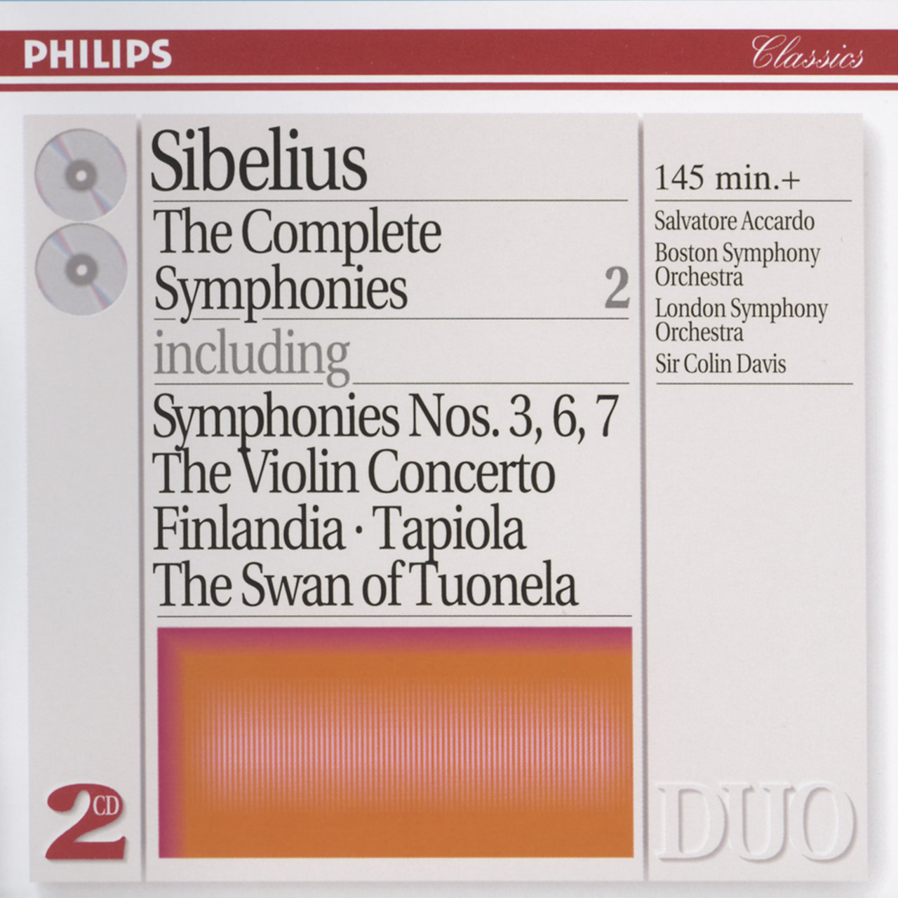 Sibelius: The Complete Symphonies, etc., Vol.2 (2 CDs)
