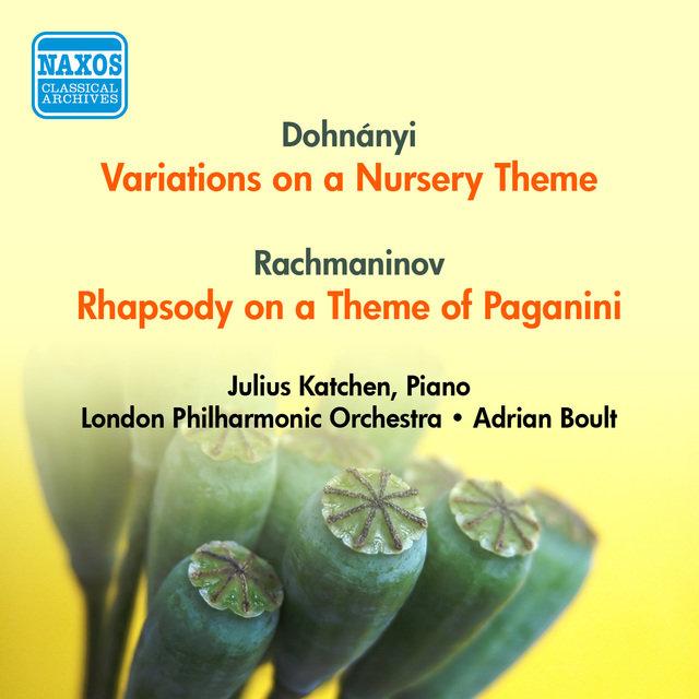 Dohnanyi E Variations On A Nursery Theme Rachmaninov S Rhapsody Of Paganini Katchen London Philharmonic Boult 1954