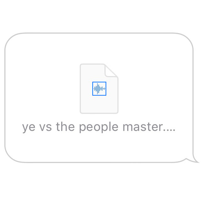 Ye vs. the People (starring TI as the People)