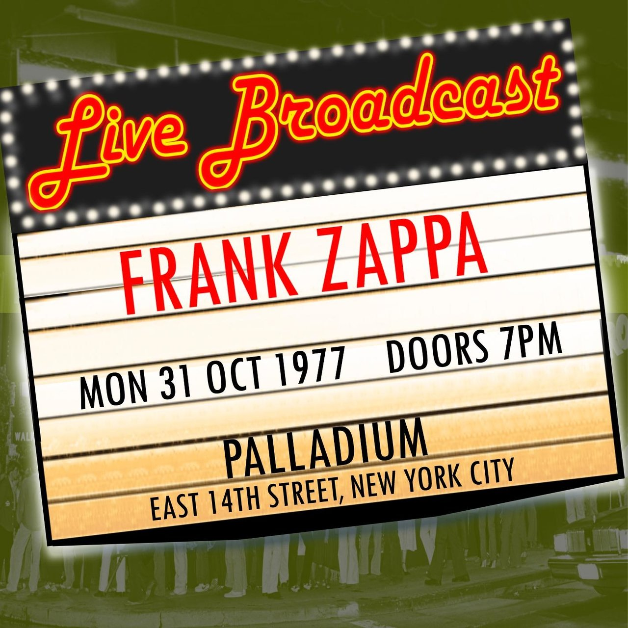 Live Broadcast - 31st October 1977  Palladium,  New York City