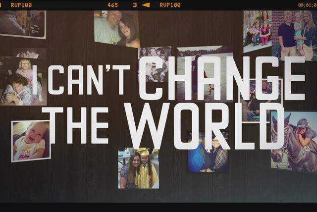 I Can't Change The World - Lyric Video