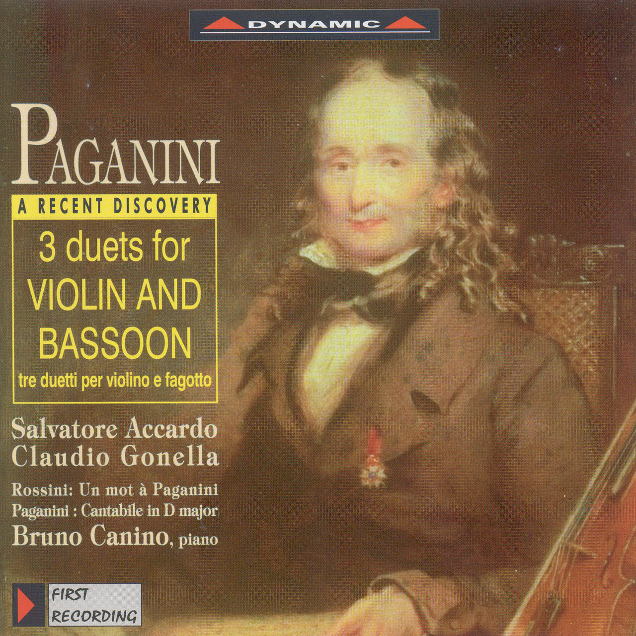 Paganini: Duets for Violin and Bassoon / Cantabile in D Major / Rossini: Un Mot A Paganini