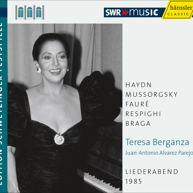 Teresa Berganza: An Evening of Song (Schwetzinger Festspiele Edition, 1985)