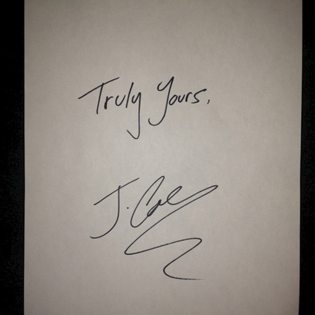 Truly Yours, J. Cole