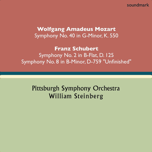 Wolfgang Amadeus Mozart: Symphony No. 40 in G-Minor, K. 550 - Franz Schubert: Symphony No. 2 in B-Flat, D. 125 & Symphony No. 8 in B-Minor, D. 779