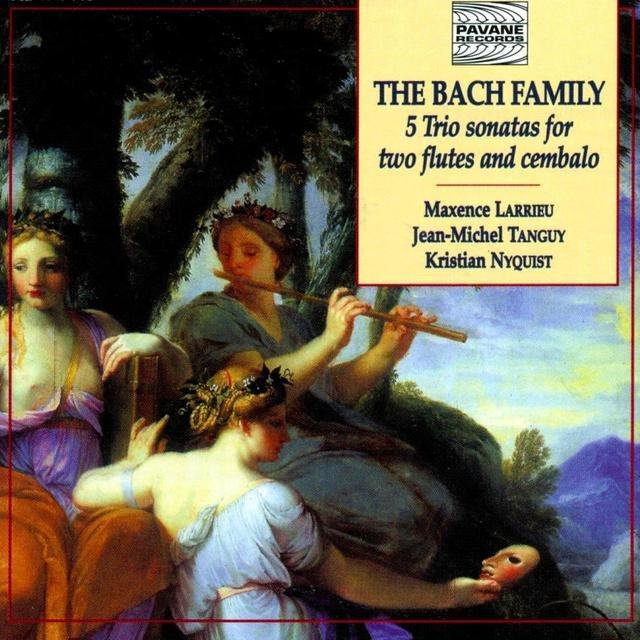 The Bach Family: 5 Trio Sonatas for Two Flutes and Cembalo