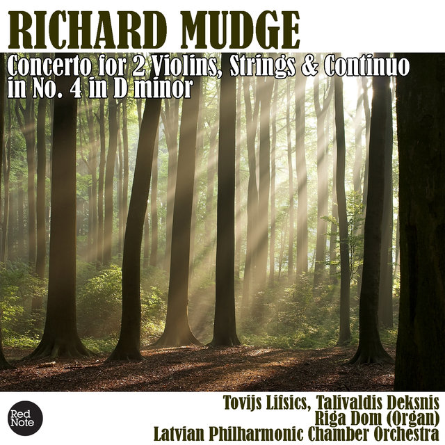 Mudge: Concerto for 2 Violins, Strings & Continuo No. 4 in D minor